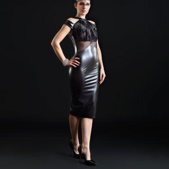 Wetlook Minikleid SMOOTHIE  - Schwarz