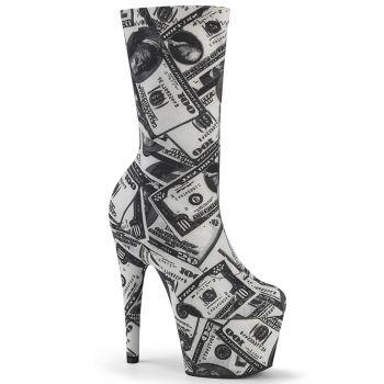 Plateau Sock Boots ADORE-1002DP - Dollar Print