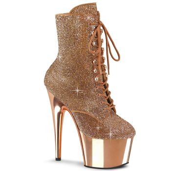 Plateau Stiefelette ADORE-1020CHRS - Rose Gold