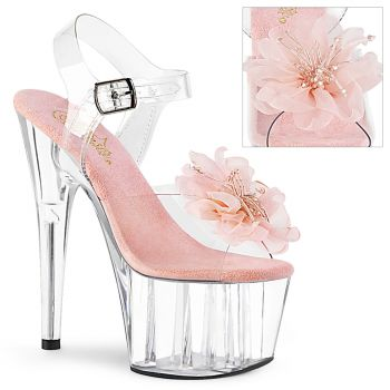 Plateau High Heels ADORE-708BFL - Klar/Baby Pink