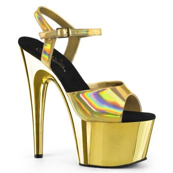 Plateau High Heels ADORE-709HGCH - Gold Chrom