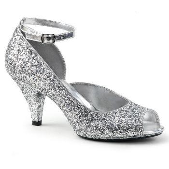 Glitter Peeptoes BELLE-381G - Silber