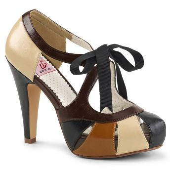 Retro Pumps BETTIE-19 - Hellbraun