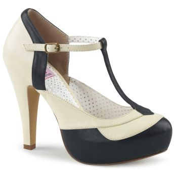 Retro Pumps BETTIE-29 - Schwarz/Creme