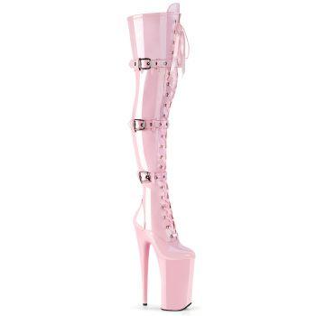 Extrem Plateau Heels BEYOND-3028 - Lack Baby Pink
