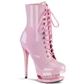 Plateau Stiefelette BLONDIE-R-1020 - Lack Baby Pink