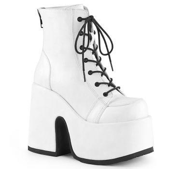 Gothic Stiefelette (Vegan) CAMEL-203 - Weiß