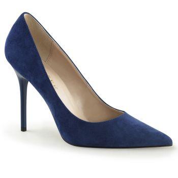 Stiletto Pumps CLASSIQUE-20 - Velour Blau