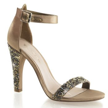 Sandalette CLEARLY-436 - Bronze