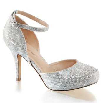 D'Orsay Pumps COVET-03 - Silber Glitter*
