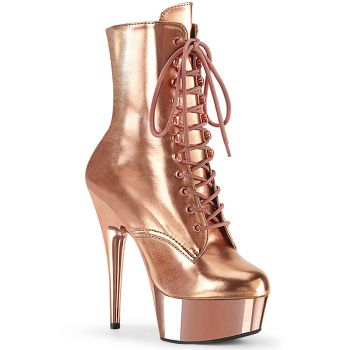 Plateau Stiefelette DELIGHT-1020 - Rose Gold Metallic