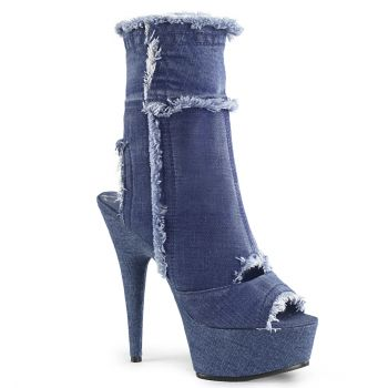 Plateau Stiefelette DELIGHT-1030 - Denim Blue