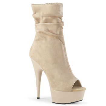 Open Toe Stiefelette DELIGHT-1031 - Beige