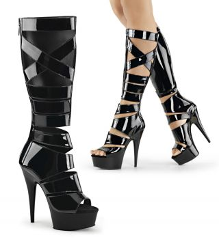 Gladiator High Heels DELIGHT-600-49 - Schwarz*