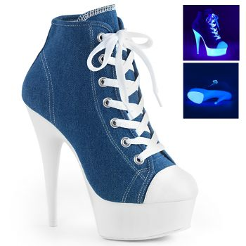 Canvas High Heel Sneakers DELIGHT-600SK-02 - Blau