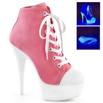 Canvas High Heel Sneakers DELIGHT-600SK-02 - Rosa