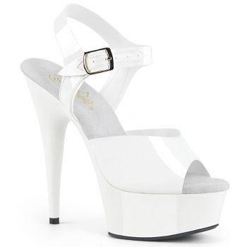 Plateau High Heels DELIGHT-608N - TPU Weiß
