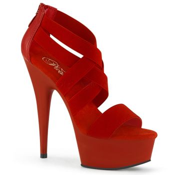 Plateau High Heels DELIGHT-669 - Rot