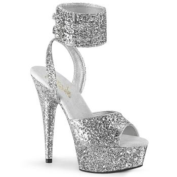 Plateau High Heels DELIGHT-691LG - Silber