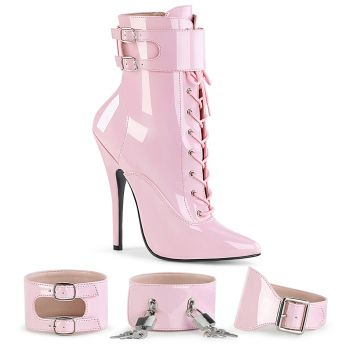 Extrem High Heels DOMINA-1023 - Lack Baby Pink