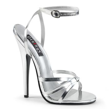 Extrem High Heels DOMINA-108 - Silber