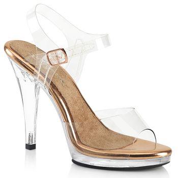Sandalette FLAIR-408 - Klar/Rose Gold