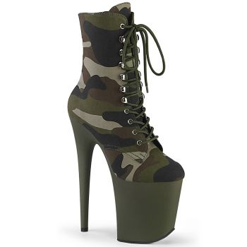 Extrem Plateau Heels FLAMINGO-1020CAMO - Camouflage