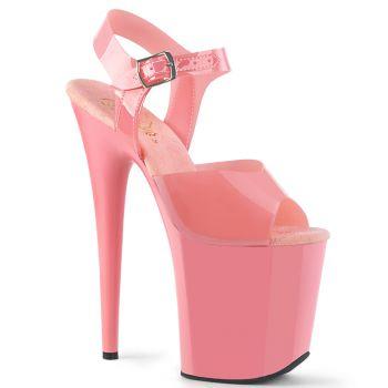 Extrem Plateau Heels FLAMINGO-808N - TPU Baby Pink