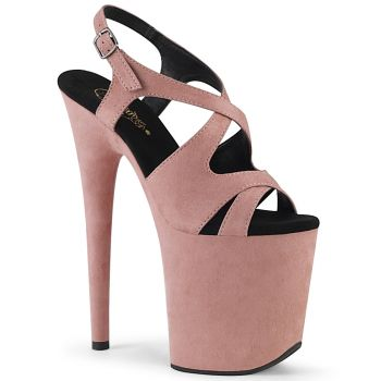 Extrem Plateau Heels FLAMINGO-831FS - Baby Pink