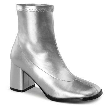 Klassische Stiefelette GOGO-150 - Silber