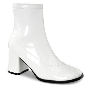 Klassische Stiefelette GOGO-150 - Lack Weiß