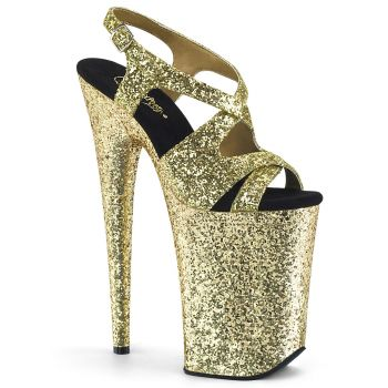 Extrem Plateau Heels INFINITY-930LG - Glitter Gold