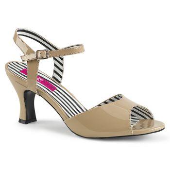 Sandalette JENNA-09 - Lack Creme