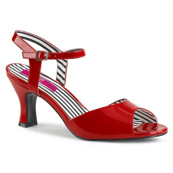 Sandalette JENNA-09 - Lack Rot