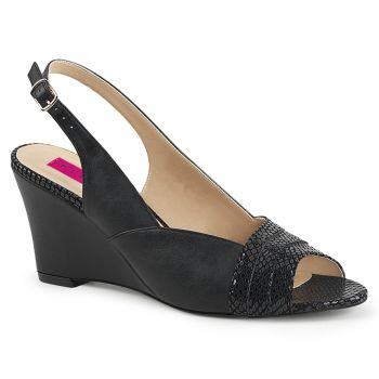 Wedges KIMBERLY-01SP - PU Schwarz