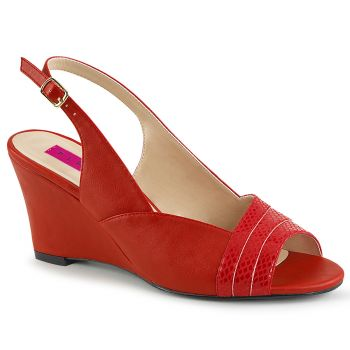 Wedges KIMBERLY-01SP - PU Rot