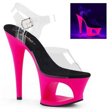 Plateau High Heels MOON-708UV - Neon Pink