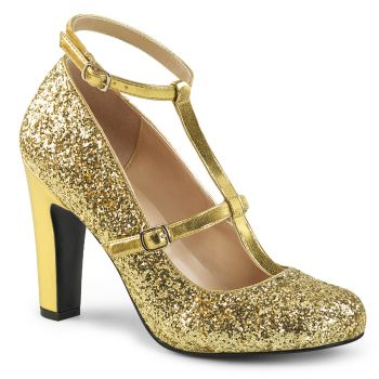Glitter Pumps QUEEN-01 - Gold