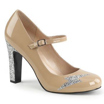 Mary Jane Pumps QUEEN-02 - Lack Creme