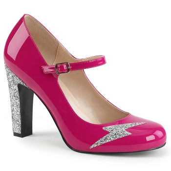 Mary Jane Pumps QUEEN-02 - Lack Hot Pink