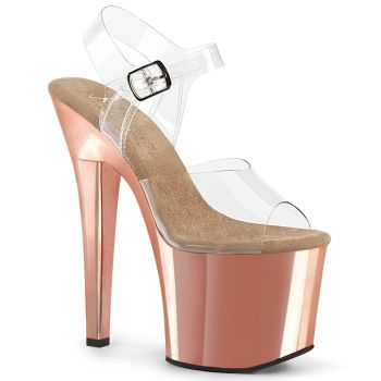 Plateau Sandalette RADIANT-708 - Rose Gold Chrom