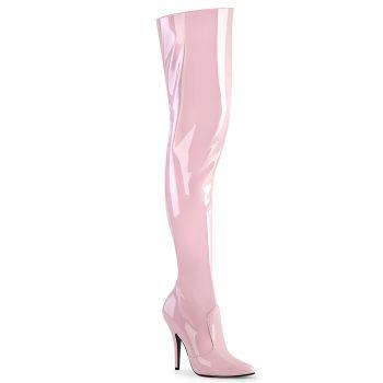 Overknee Stiefel SEDUCE-3010 - Lack Baby Pink