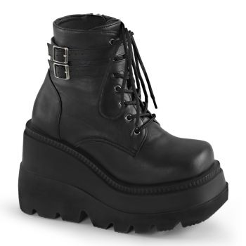 Plateau Ankle Boots SHAKER-52 - PU Schwarz