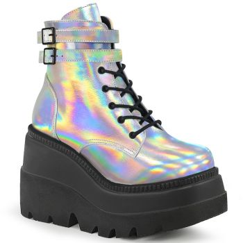 Plateau Ankle Boots SHAKER-52 - Silber Hologramm