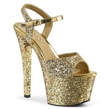 Plateau High Heels SKY-310LG - Gold
