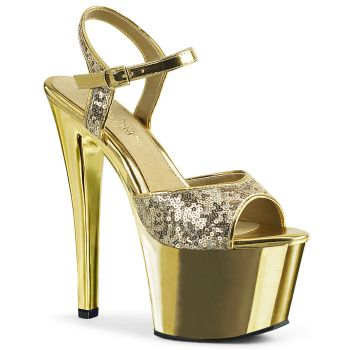Plateau High Heels SKY-310SQ - Gold
