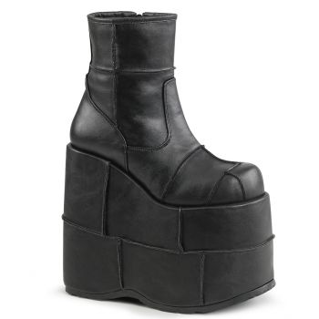 Plateau Ankle Boots STACK-201 - Schwarz