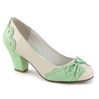 Retro Pumps WIGGLE-17 - Creme/Mint