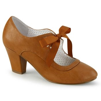 Retro Pumps WIGGLE-32 - Karamell