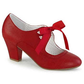 Retro Pumps WIGGLE-32 - PU Rot
